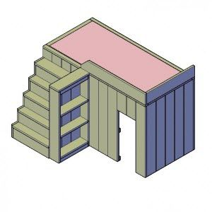 hoogslaper met berging bouwtekening