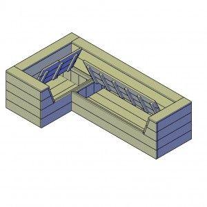 Steigerhouten hoekbank bouwtekeningen