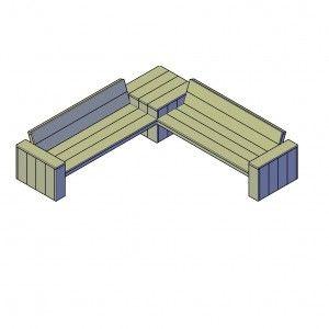 Loungehoekbank type MXL bouwtekening