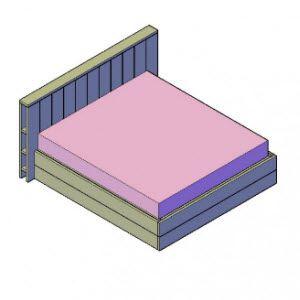 bed maken met deze bed bouwtekening