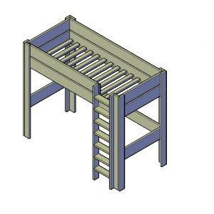 bouwtekening hoogslaper steigerhout