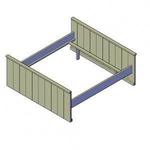 Genoeg Bouwtekening Steigerhout Bed Downloaden | BouwtekeningenPakket @VW55
