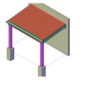 afdak maken afdak bouwen bouwtekening